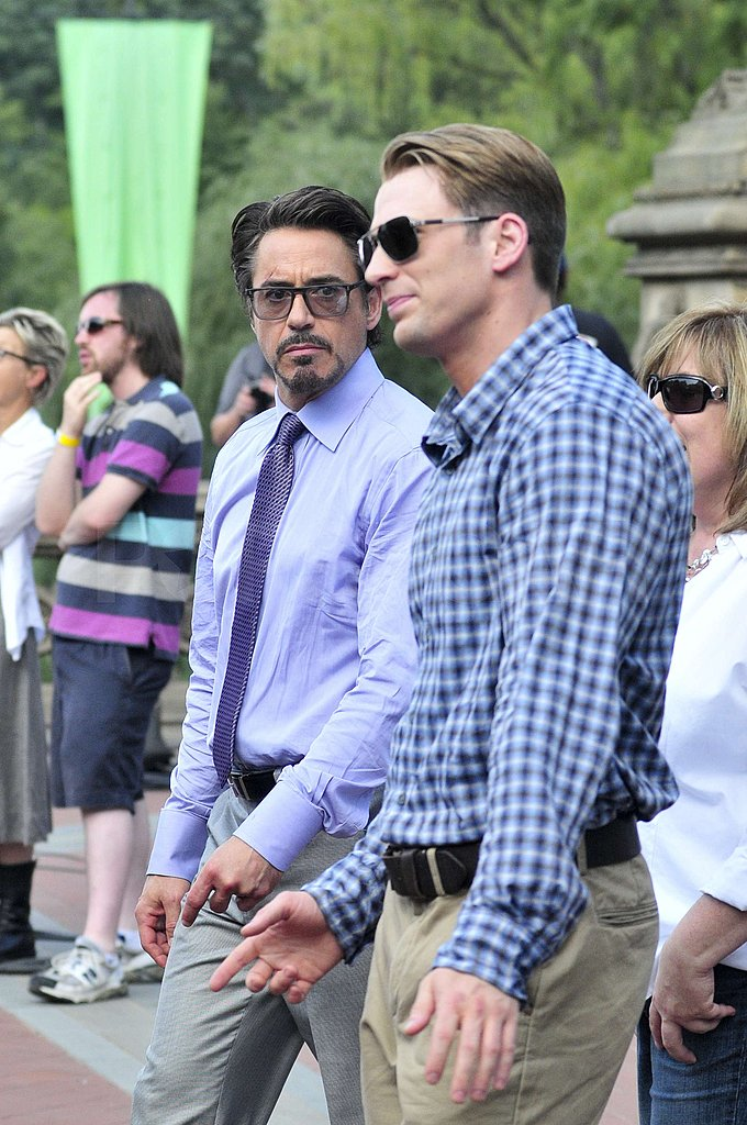 Chris-Evans-caught-up-Robert-Downey-Jr-set